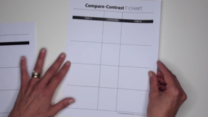 Adjust a T-Chart to Fit Various Text Structures