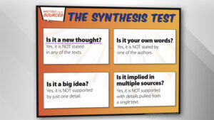 Clarify Summary Versus Synthesis