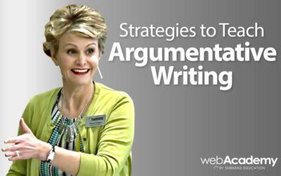 Strategies to Teach Argumentative Writing