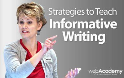 Strategies to Teach Informative Writing