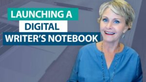 How do I launch a digital writer's notebook?