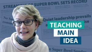 How do you explain main idea versus topic?