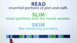 Skim and Slim Portions of a Novel