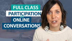 How do I get more participation in online conversations?