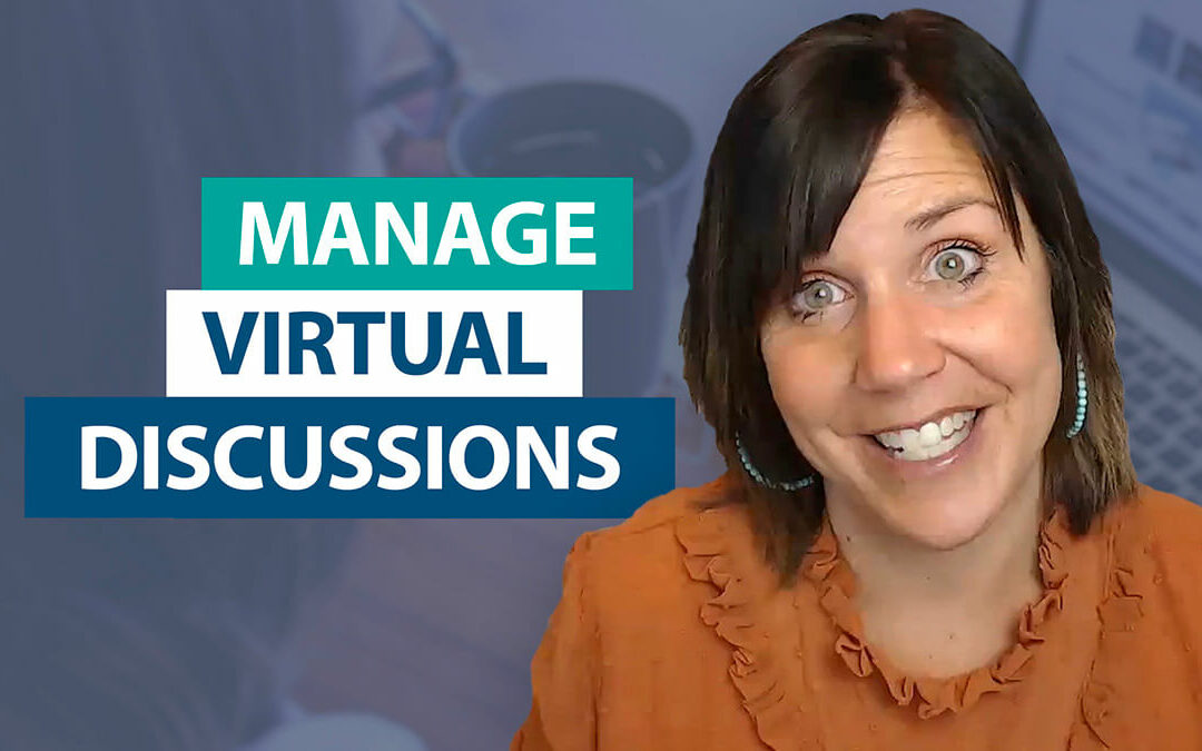 How do I manage whole-class discussions virtually