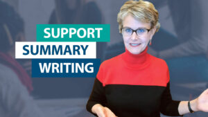 How do I support students' summary writing?