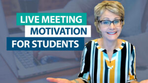 """How can I motivate students to """"attend"""" live meetings?"""